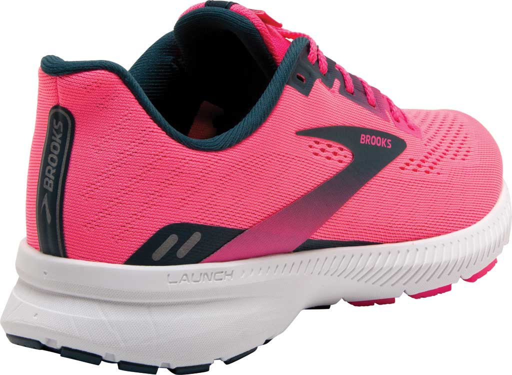 Women's Brooks Launch 8 Running Sneaker, Pink/Raspberry/Navy, large, image 4