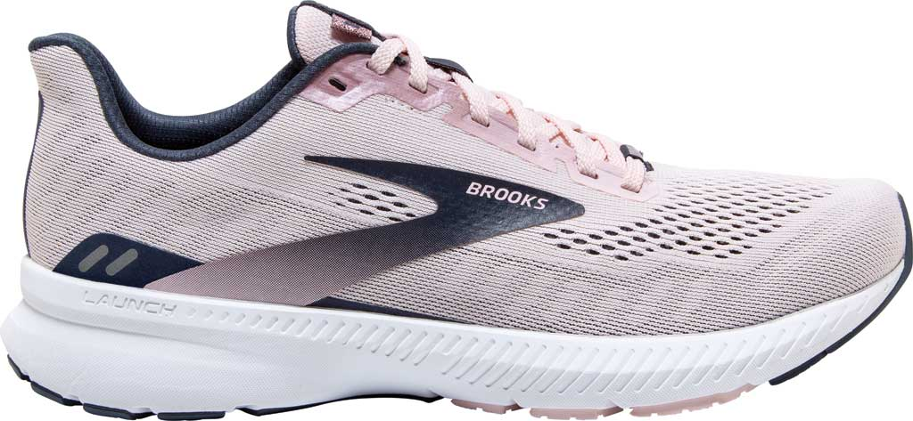 Women's Brooks Launch 8 Running Sneaker, Primrose/Ombre/Metallic, large, image 2