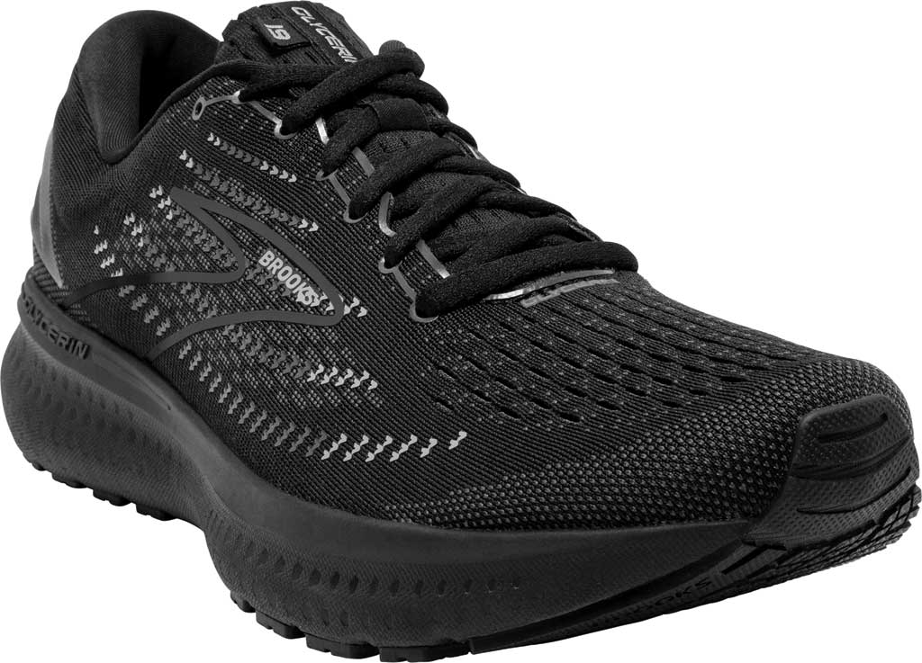 Men's Brooks Glycerin 19 Running Sneaker, Black/Ebony, large, image 1