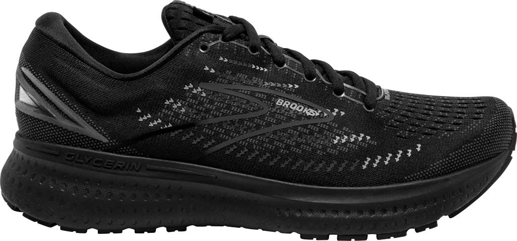 Men's Brooks Glycerin 19 Running Sneaker, Black/Ebony, large, image 2