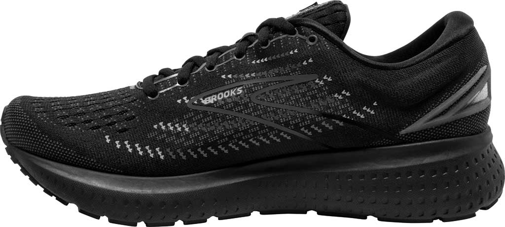 Men's Brooks Glycerin 19 Running Sneaker, Black/Ebony, large, image 3