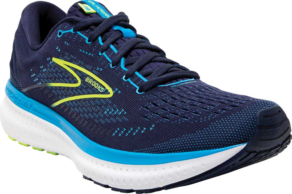 Men's Brooks Glycerin 19 Running Sneaker, Navy/Blue/Nightlife, large, image 1