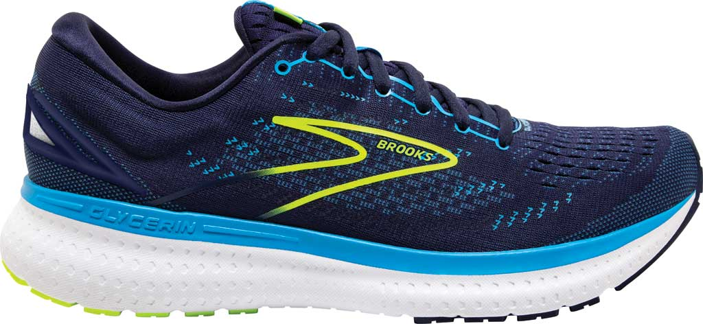 Men's Brooks Glycerin 19 Running Sneaker, Navy/Blue/Nightlife, large, image 2