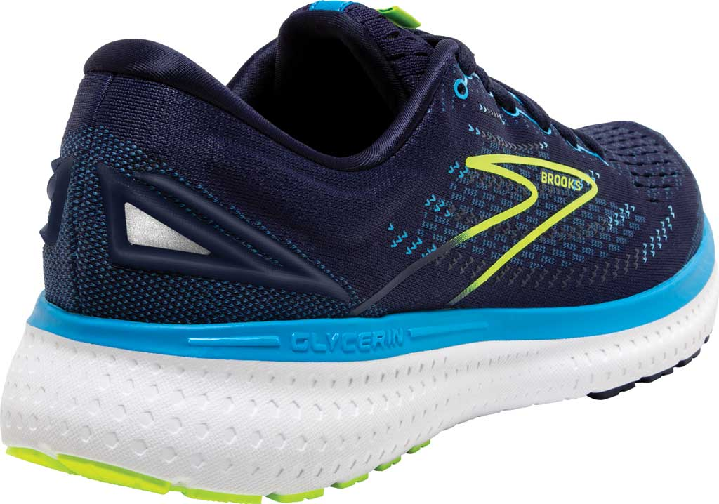 Men's Brooks Glycerin 19 Running Sneaker, Navy/Blue/Nightlife, large, image 4