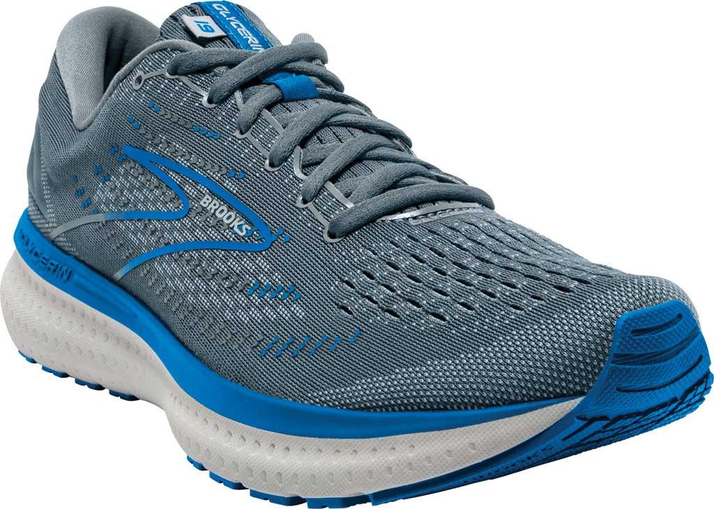 Men's Brooks Glycerin 19 Running Sneaker, Quarry/Grey/Dark Blue, large, image 1