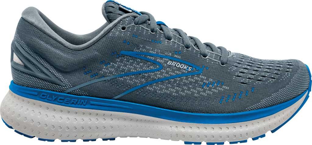 Men's Brooks Glycerin 19 Running Sneaker, Quarry/Grey/Dark Blue, large, image 2