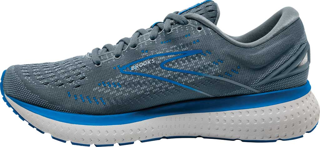 Men's Brooks Glycerin 19 Running Sneaker, Quarry/Grey/Dark Blue, large, image 3