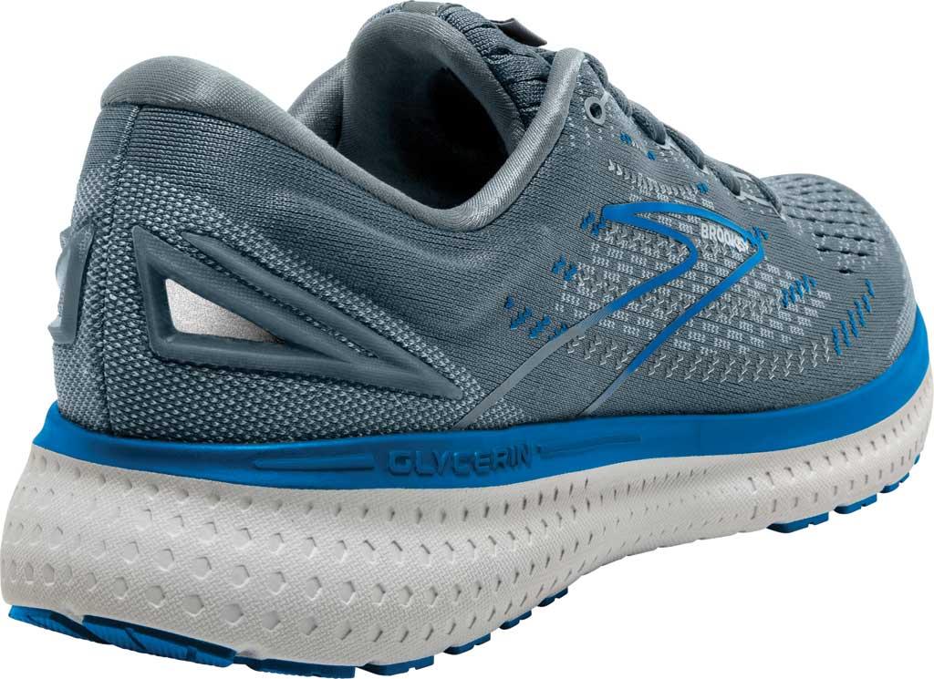 Men's Brooks Glycerin 19 Running Sneaker, Quarry/Grey/Dark Blue, large, image 4