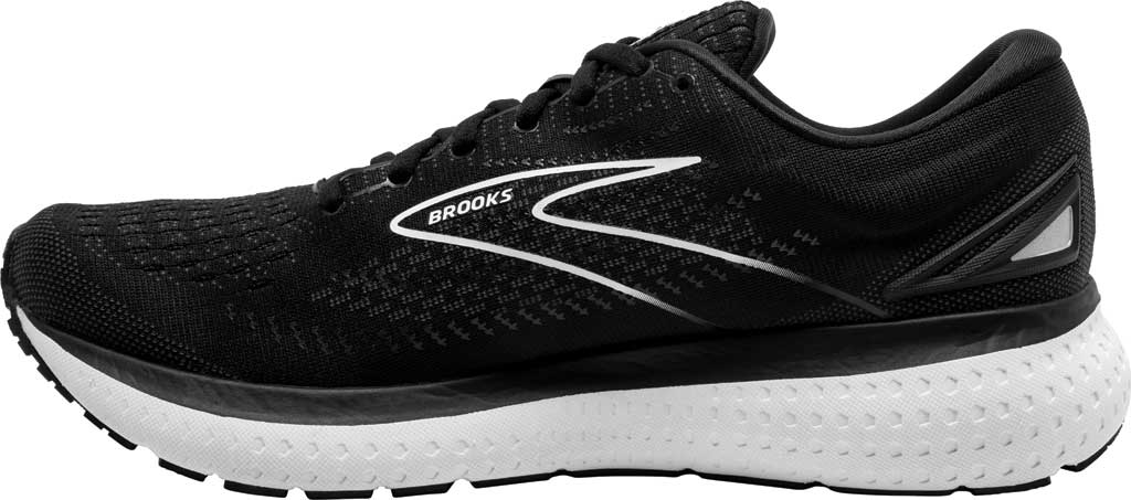 Men's Brooks Glycerin 19 Running Sneaker, Black/White, large, image 3