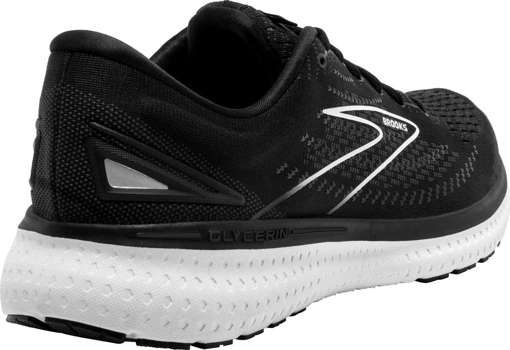 Men's Brooks Glycerin 19 Running Sneaker, Black/White, large, image 4