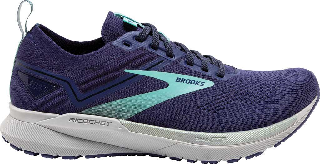 Women's Brooks Ricochet 3 Running Sneaker, Peacoat/Ribbon/Blue Tint, large, image 2