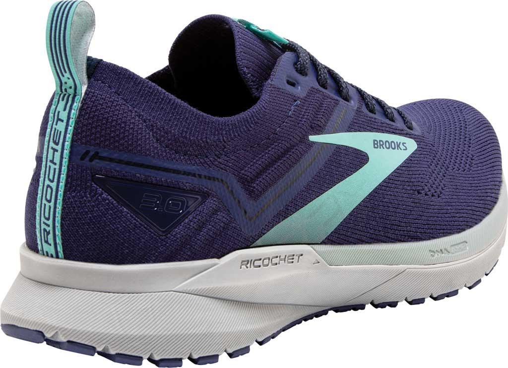 Women's Brooks Ricochet 3 Running Sneaker, Peacoat/Ribbon/Blue Tint, large, image 4