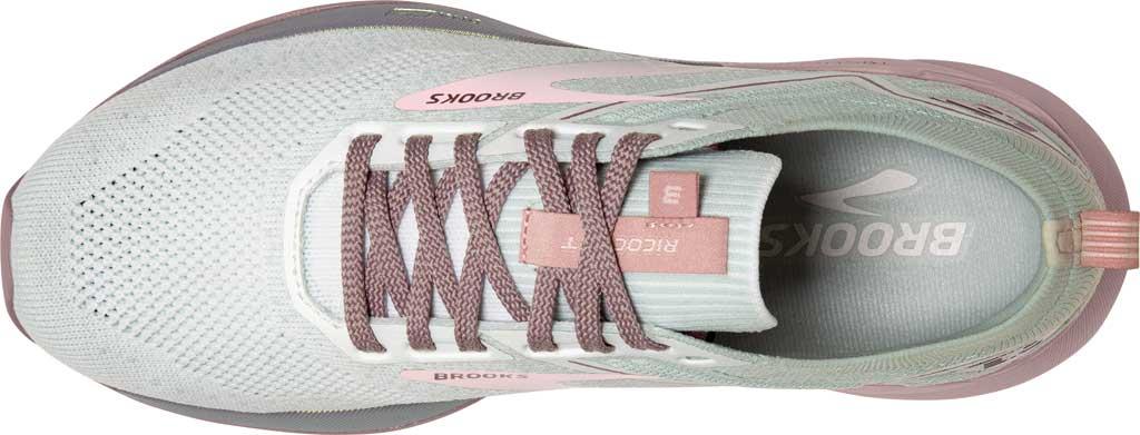 Women's Brooks Ricochet 3 Running Sneaker, White/Ice/Primrose Pink, large, image 5