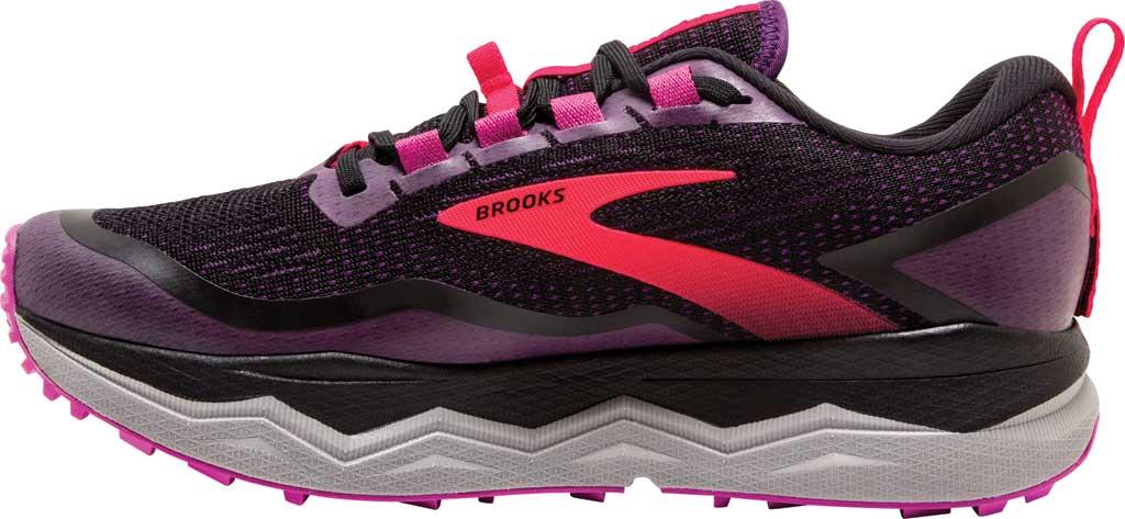 Women's Brooks Caldera 5 Trail Running Sneaker, Black/Fuchsia/Purple, large, image 3