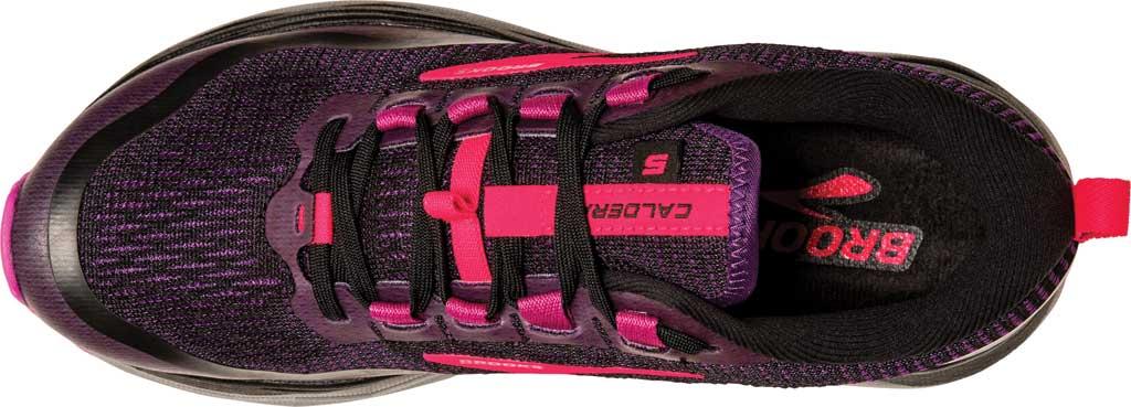 Women's Brooks Caldera 5 Trail Running Sneaker, Black/Fuchsia/Purple, large, image 5