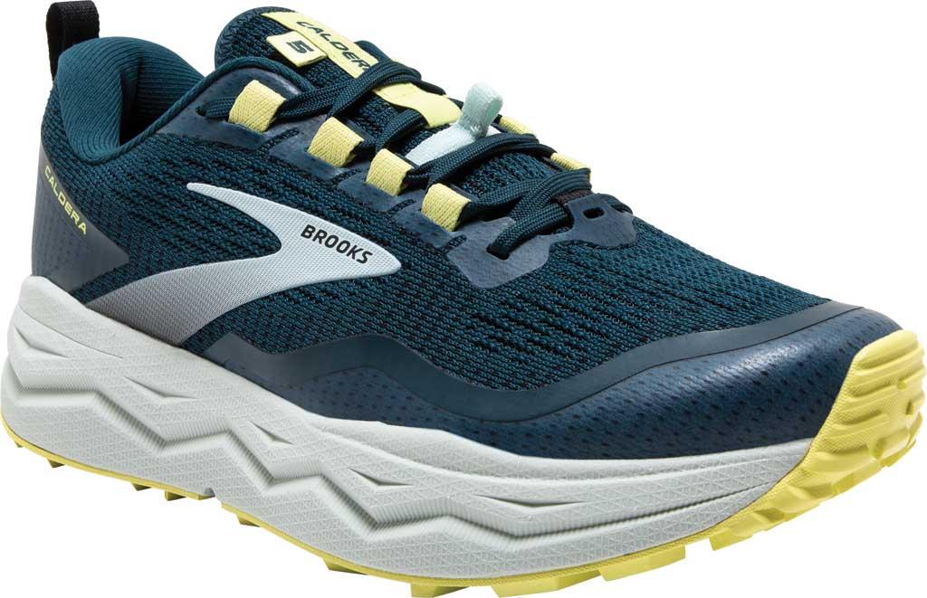 Women's Brooks Caldera 5 Trail Running Sneaker, Pond/Black/Charlock, large, image 1