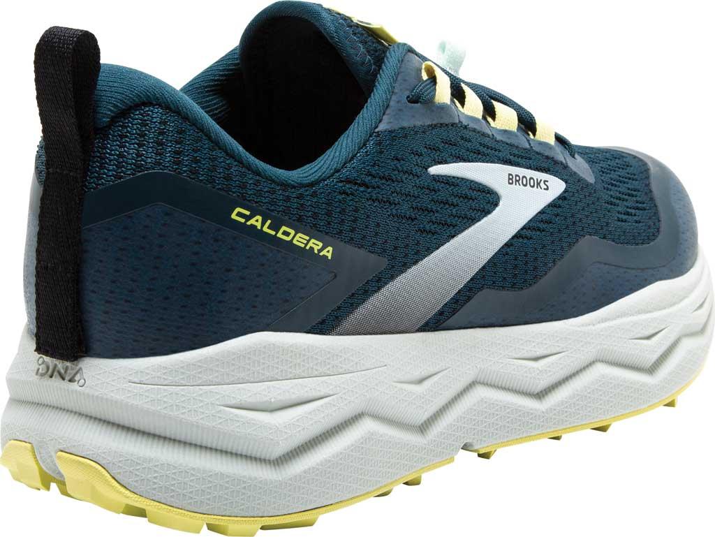 Women's Brooks Caldera 5 Trail Running Sneaker, Pond/Black/Charlock, large, image 4