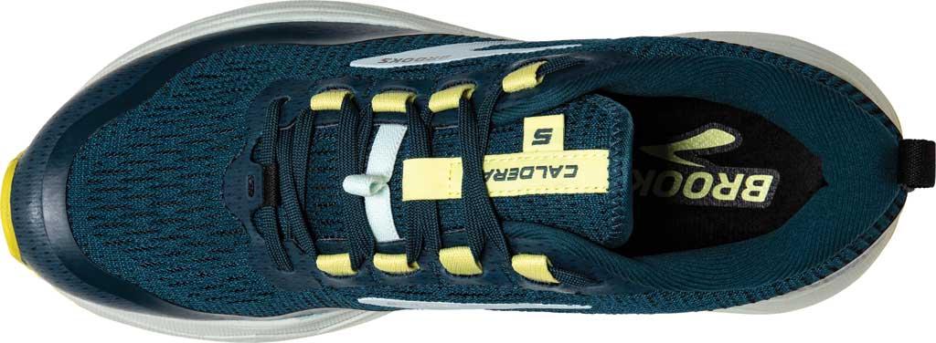 Women's Brooks Caldera 5 Trail Running Sneaker, Pond/Black/Charlock, large, image 5