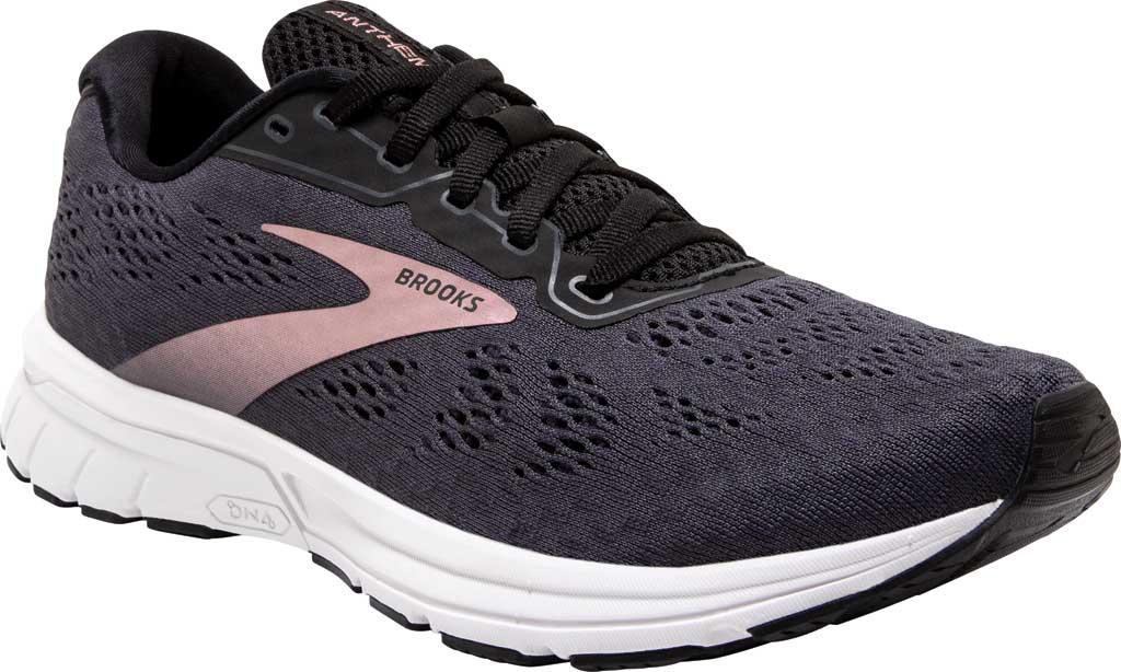 Women's Brooks Anthem 4 Running Sneaker, Black/Ebony/Metallic, large, image 1