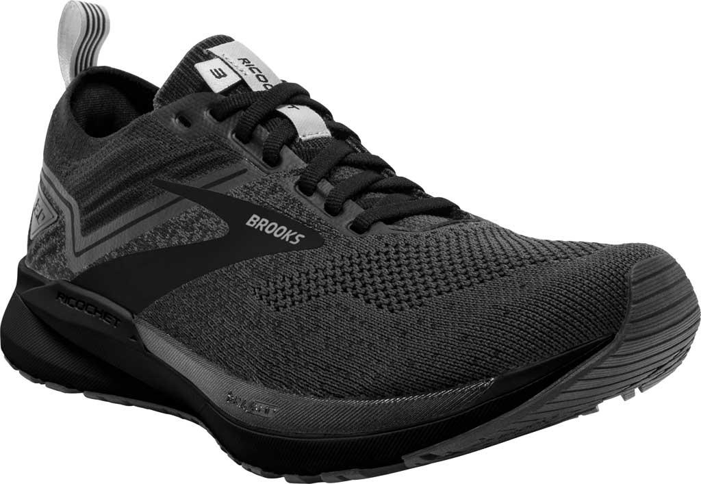 Men's Brooks Ricochet 3 Running Sneaker, Ebony/Blackened Pearl/Black, large, image 1