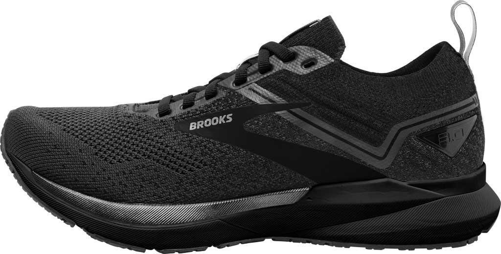 Men's Brooks Ricochet 3 Running Sneaker, Ebony/Blackened Pearl/Black, large, image 3