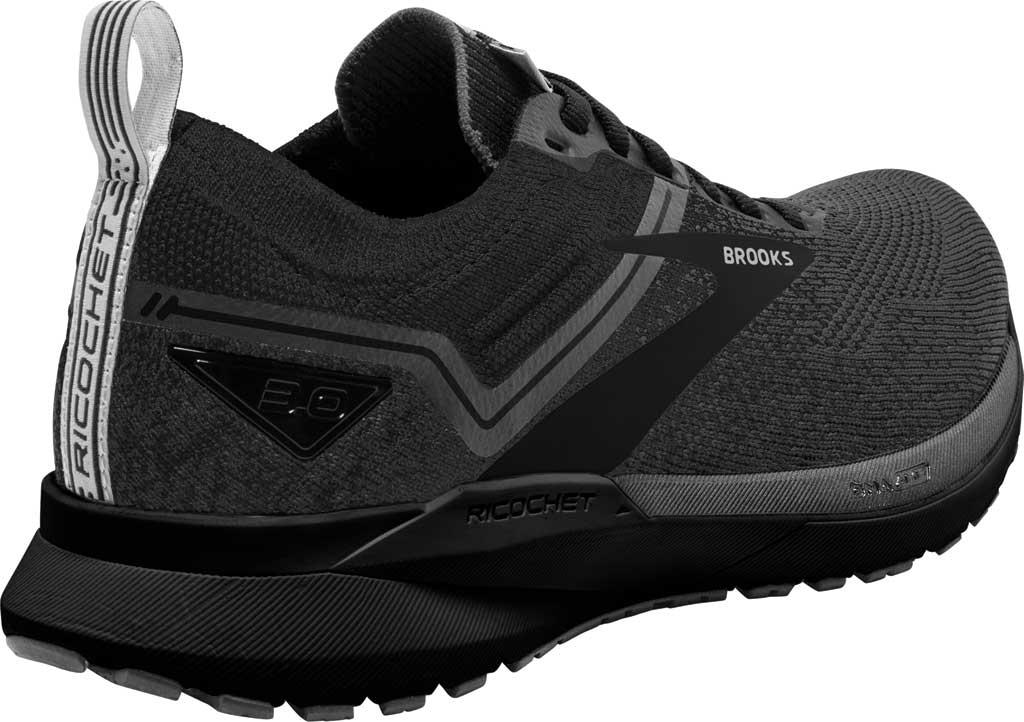 Men's Brooks Ricochet 3 Running Sneaker, Ebony/Blackened Pearl/Black, large, image 4