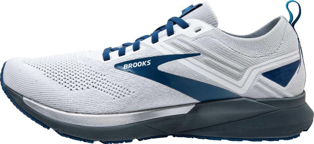 Men's Brooks Ricochet 3 Running Sneaker, White/Grey/Blue, large, image 3