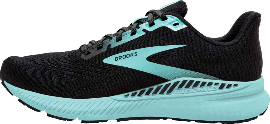 Women's Brooks Launch GTS 8 Running Sneaker, Black/Ebony/Blue Tint, large, image 3