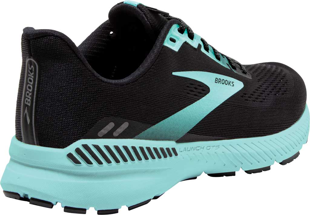 Women's Brooks Launch GTS 8 Running Sneaker, Black/Ebony/Blue Tint, large, image 4