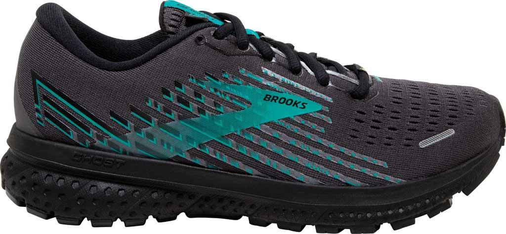 Women's Brooks Ghost 13 GORE-TEX Running Sneaker, Black/Black/Peacock, large, image 2