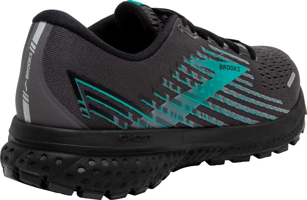 Women's Brooks Ghost 13 GORE-TEX Running Sneaker, Black/Black/Peacock, large, image 4