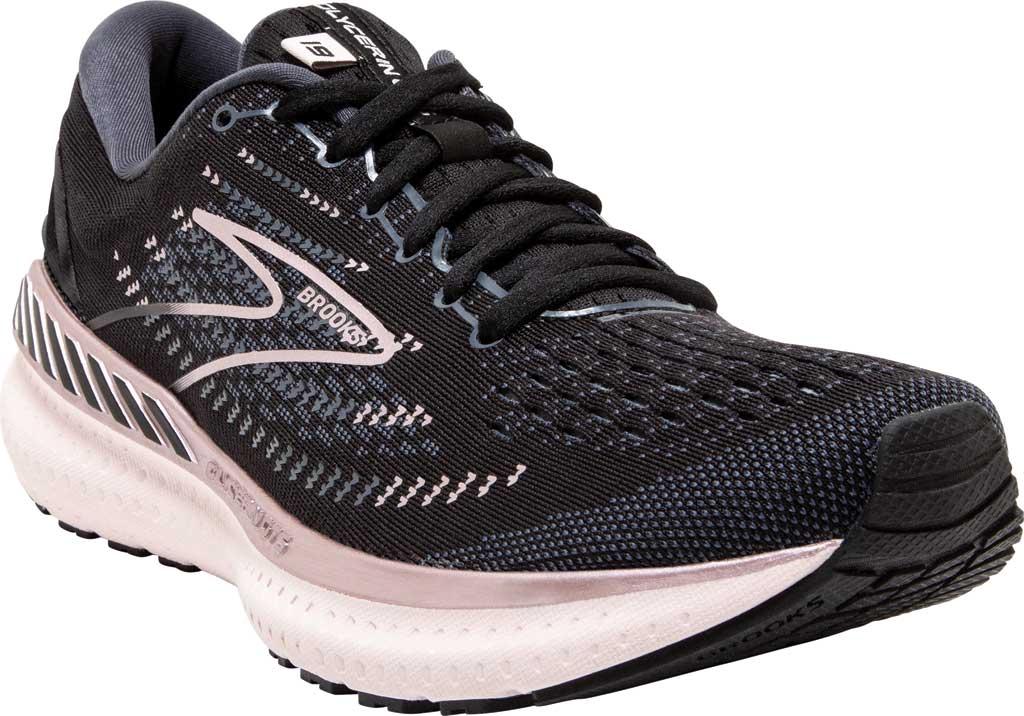 Women's Brooks Glycerin GTS 19 Running Sneaker, Black/Ombre/Metallic, large, image 1