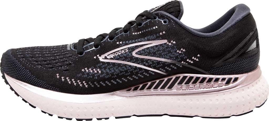 Women's Brooks Glycerin GTS 19 Running Sneaker, Black/Ombre/Metallic, large, image 3