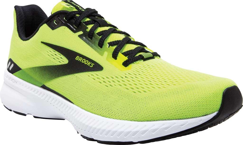 Men's Brooks Launch 8 Running Sneaker, Nightlife/Black/White, large, image 1