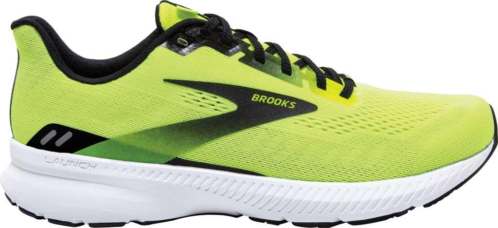 Men's Brooks Launch 8 Running Sneaker, Nightlife/Black/White, large, image 2