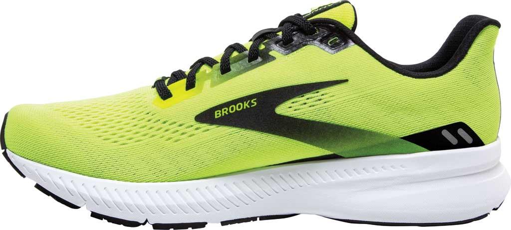 Men's Brooks Launch 8 Running Sneaker, Nightlife/Black/White, large, image 3