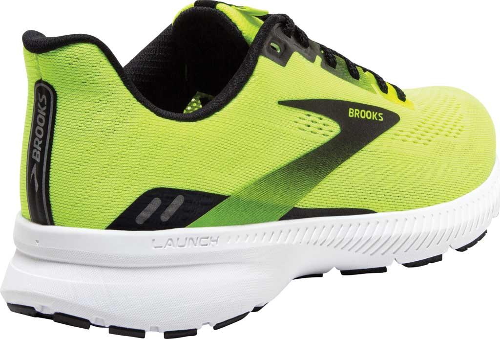 Men's Brooks Launch 8 Running Sneaker, Nightlife/Black/White, large, image 4