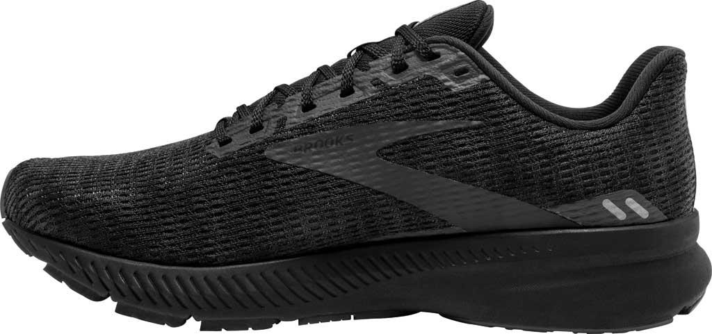 Men's Brooks Launch 8 Running Sneaker, Black/Ebony/Grey, large, image 3