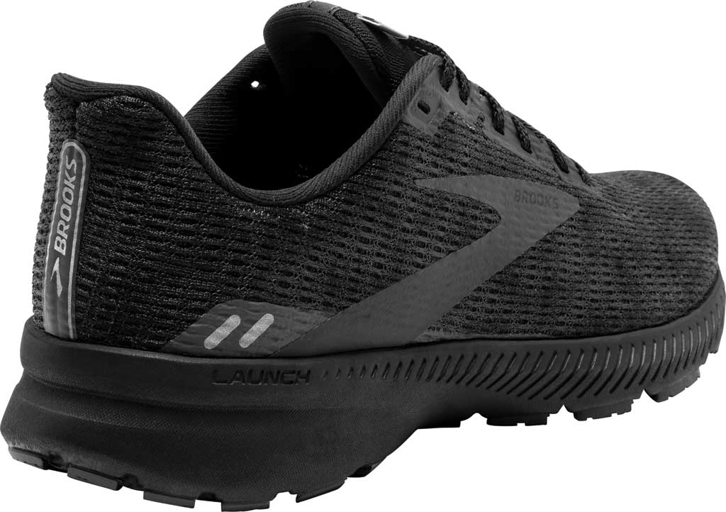 Men's Brooks Launch 8 Running Sneaker, Black/Ebony/Grey, large, image 4