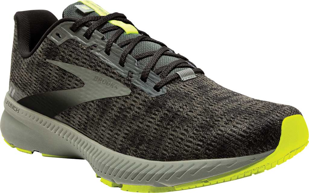 Men's Brooks Launch 8 Running Sneaker, Urban/Black/Nightlife, large, image 1