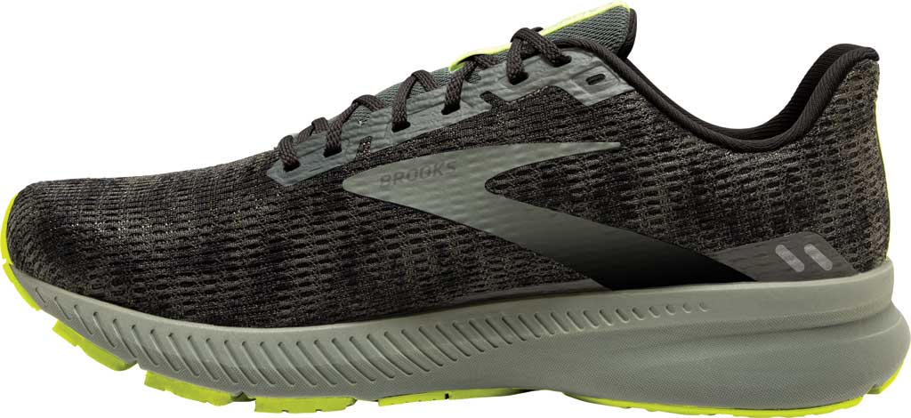 Men's Brooks Launch 8 Running Sneaker, Urban/Black/Nightlife, large, image 2
