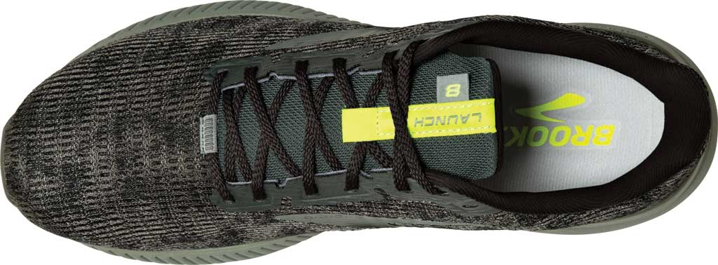 Men's Brooks Launch 8 Running Sneaker, Urban/Black/Nightlife, large, image 4