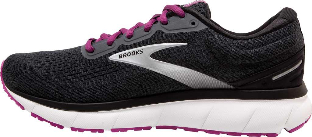 Women's Brooks Trace Running Sneaker, Ebony/Black/Wood Violet, large, image 3