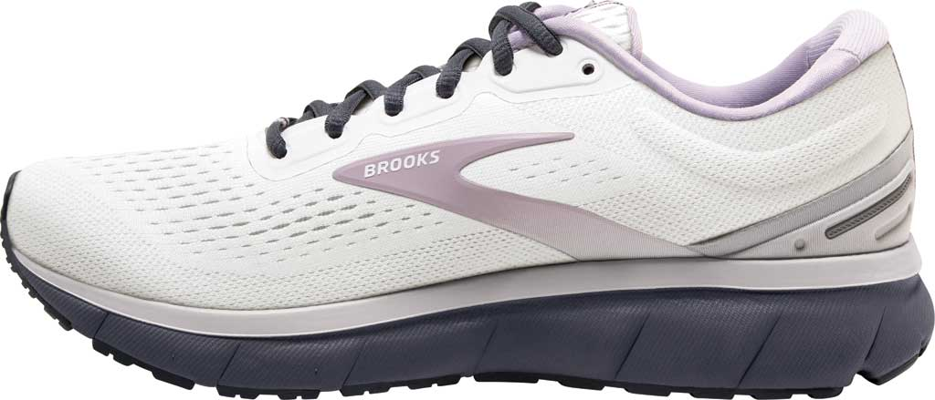 Women's Brooks Trace Running Sneaker, White/Grey/Ombre Blue, large, image 3