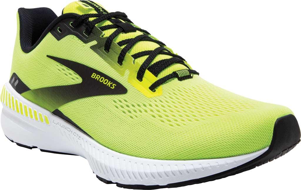 Men's Brooks Launch GTS 8 Running Sneaker, Nightlife/Black/White, large, image 1