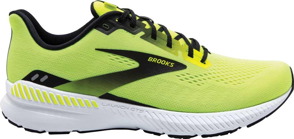 Men's Brooks Launch GTS 8 Running Sneaker, Nightlife/Black/White, large, image 2