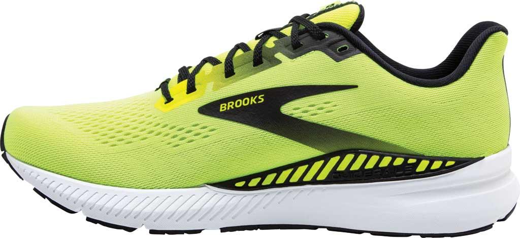 Men's Brooks Launch GTS 8 Running Sneaker, Nightlife/Black/White, large, image 3