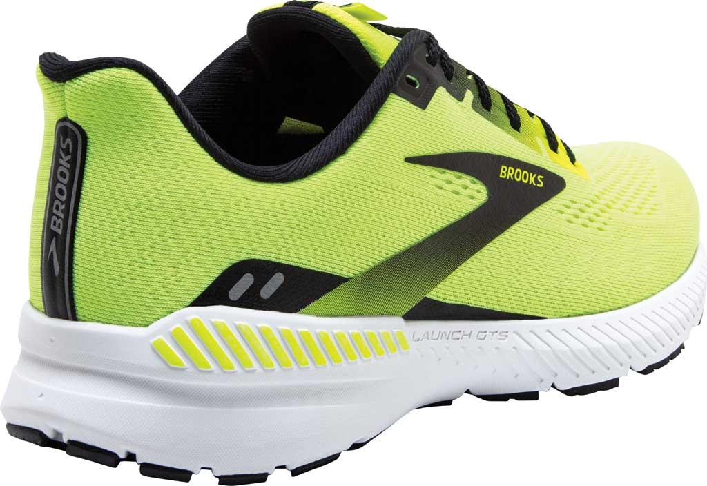 Men's Brooks Launch GTS 8 Running Sneaker, Nightlife/Black/White, large, image 4