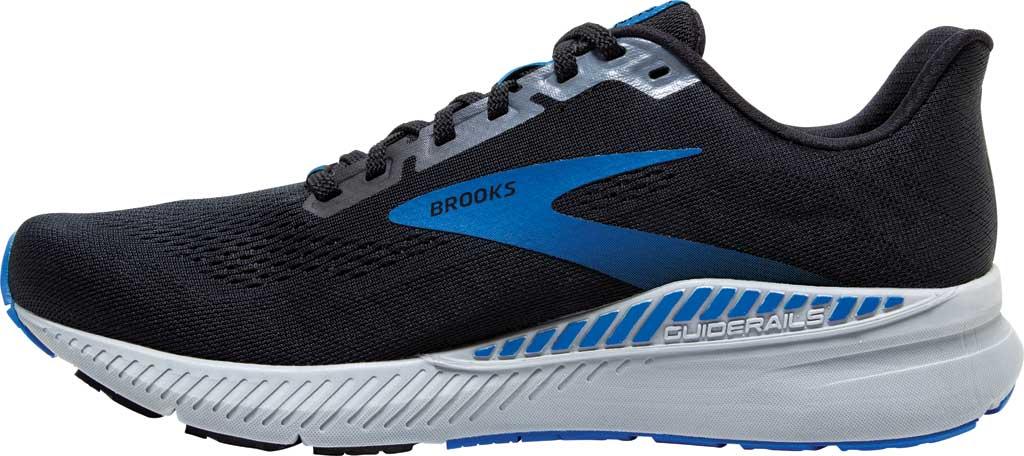 Men's Brooks Launch GTS 8 Running Sneaker, Black/Grey/Blue, large, image 3