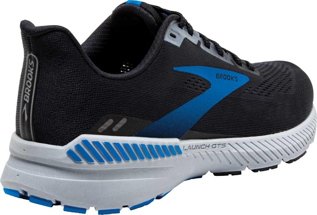 Men's Brooks Launch GTS 8 Running Sneaker, Black/Grey/Blue, large, image 4